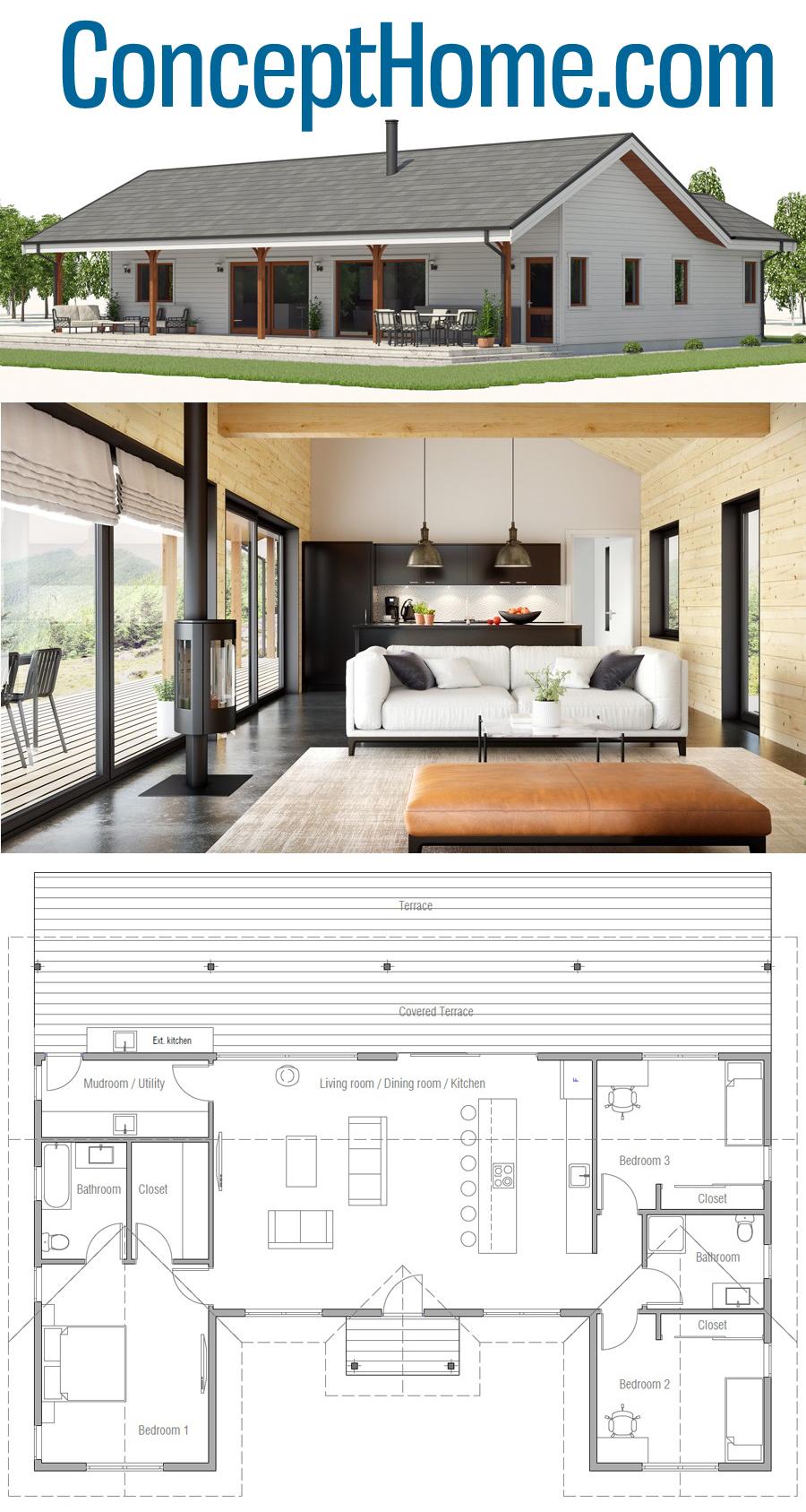 Plan De Maison Ch555 New House Plans House Plans Farmhouse Small House Plans