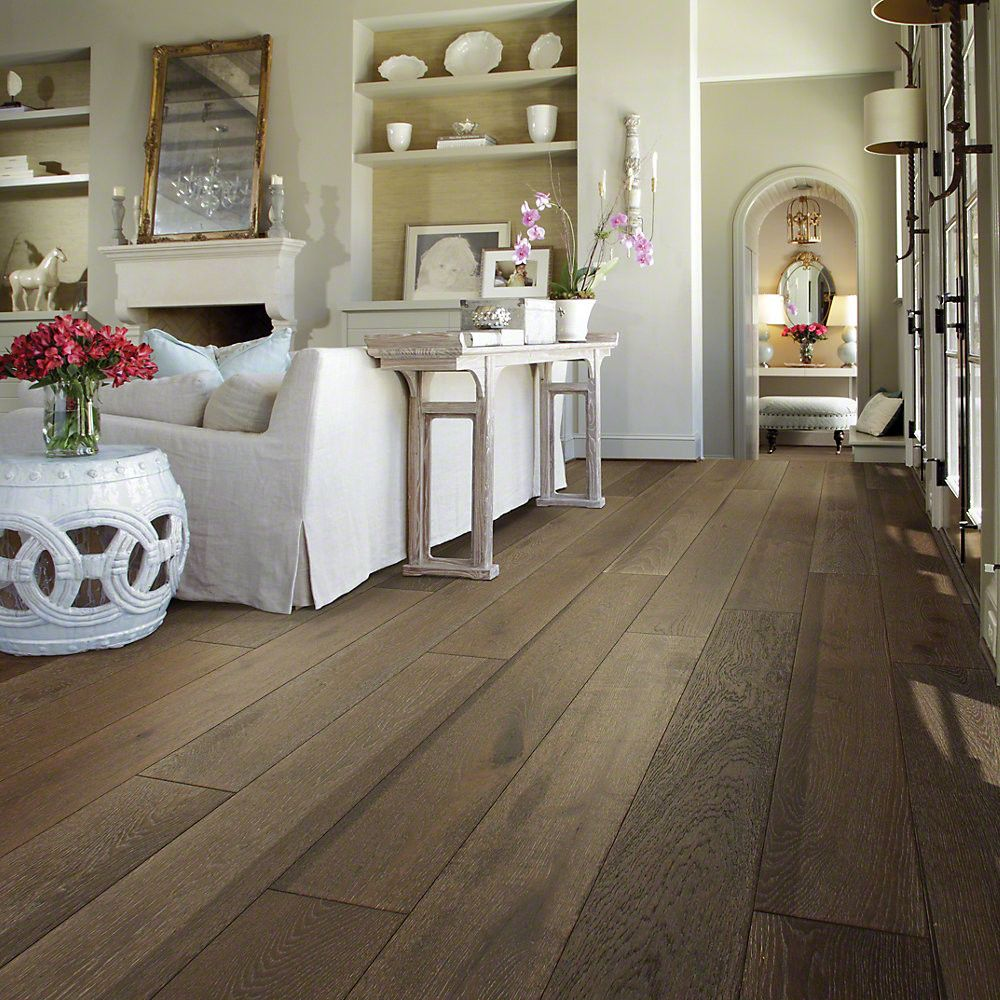 Shaw Floors Castlewood 7 1 2 Engineered White Oak Hardwood Flooring In Drawbridge Hardwood Floors White Oak Hardwood Floors White Oak Floors