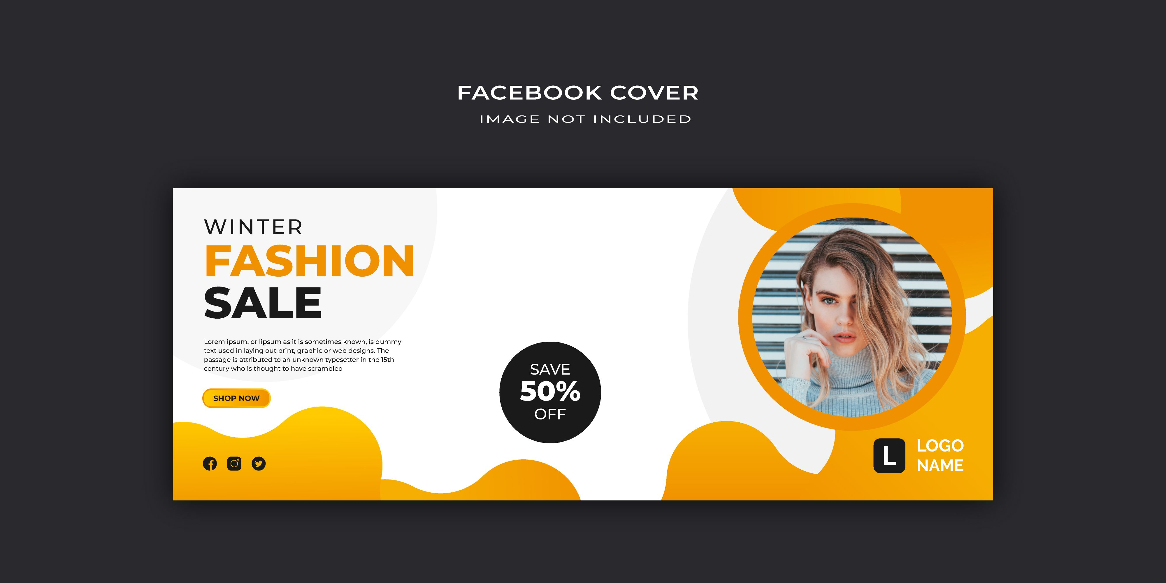 This Social Media post Template is perfect for the promotion and sale. Promote and share your business or any other activity on social media like Facebook, Instagram with these modern, stylish Winter Fashion Sale Cover Banner Design. AI and PS file is fully layred and very easy to edit. #wintersale #fashionsale #cover #facebookcover ##timelinecover #pagecover #posttemplate #instagrampost #facebookpost #ads #design #discount