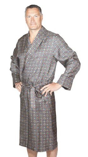 0016a9a5b1  200 + shipping from UK   Lloyd Attree   Smith Luxury 100% Silk Print Dressing  Gown  Amazon.co.uk  Clothing