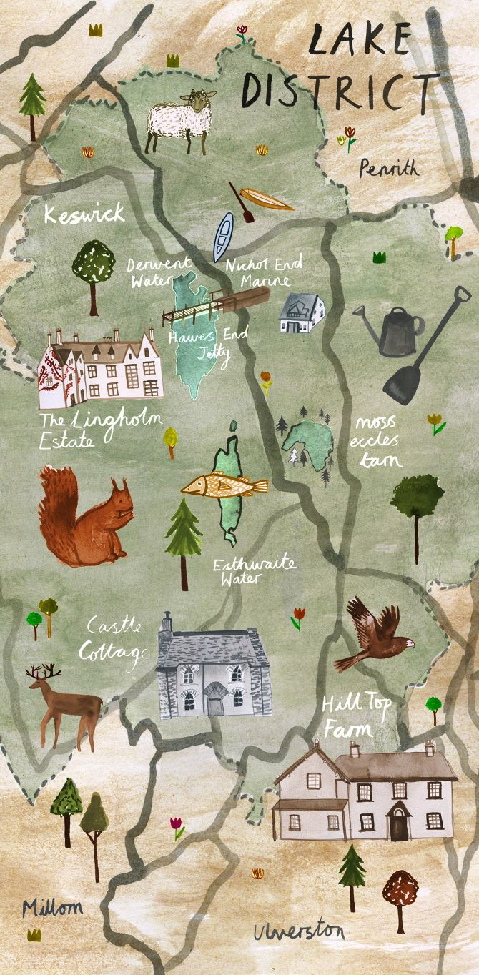 maps showcasing places linked with famous literary