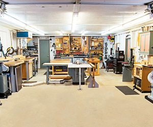 The Non Yankee Workshop Shop Layout Wood Shop Garage Design