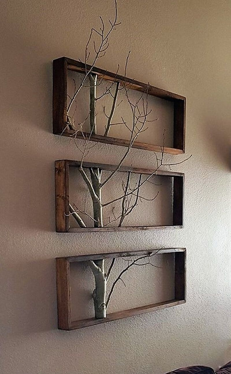 reclaimed wood pallet wall decor idea gives a rustic on wall decorations id=20096