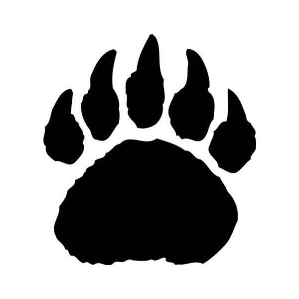 bear paw print logo stencils ❤ liked on Polyvore featuring