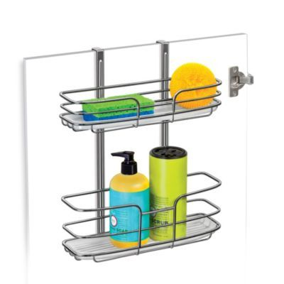 Lynk Over Cabinet Door Organizer Double Shelf With Molded Tray