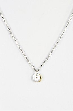 Delicate Double Circle Necklace