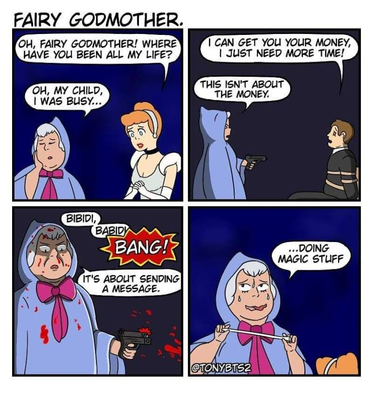 Fairy Godmother Comic Disney Memes Funny Funny Memes