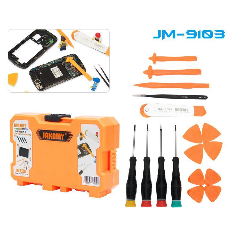 Jakemy Jm 9103 18 In 1 Opening Repair Tools Kit For Repairing Iphone Mobile Phone Pc Electroni Smartphone Repair Mobile Phone Repair Iphone Mobile Phone
