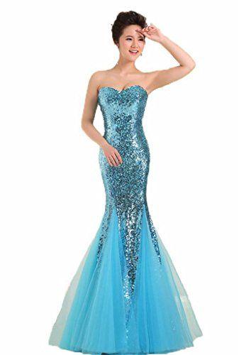 yorformals Women\'s Sweetheart Mermaid Floor Length Sequin Prom Dress ...