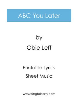 ABC You Later is a fun and engaging goodbye song  Sing it to