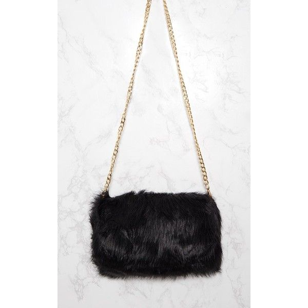 Kylah Black Faux Fur Clutch Bag 31 Liked On Polyvore Featuring Bags