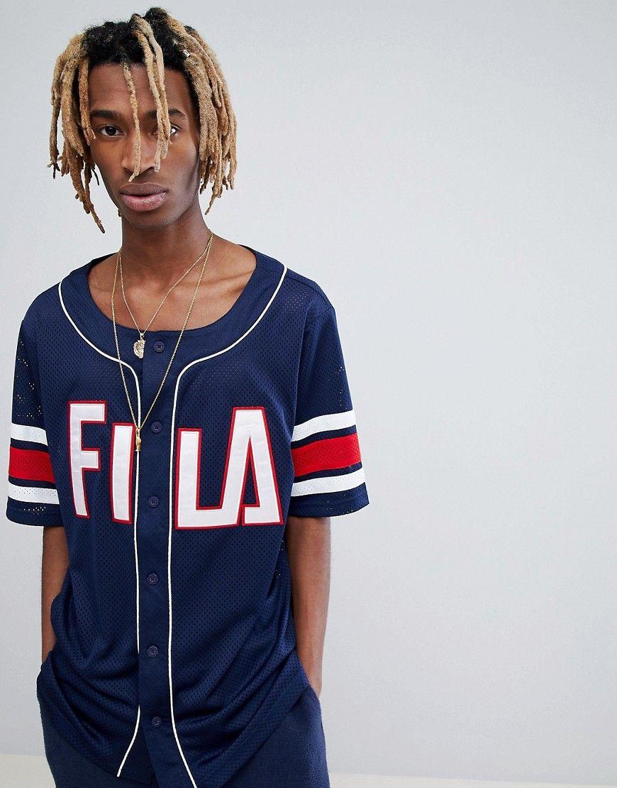 Fila Black Line Baseball Mesh T-shirt