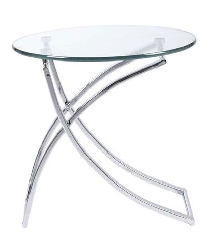 Ardmore Side Table Glass Chrome Glass Side Tables Glass Top