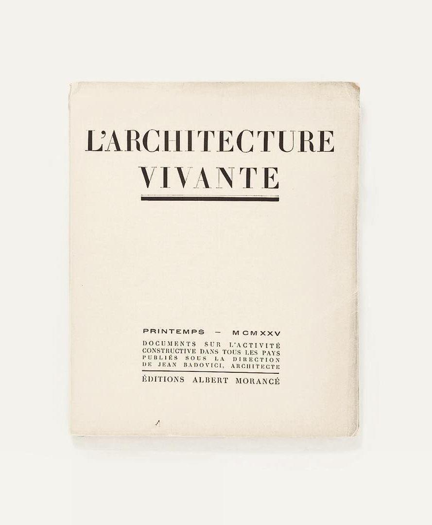 LARCHITECTURE VIVANTE Book Editions Albert Morance Jonwbenedict On Instagram
