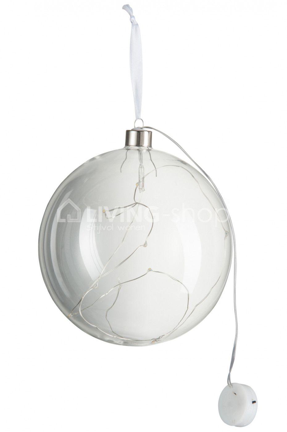 kerstbal met led lichtjes j line webshop living shop webshop