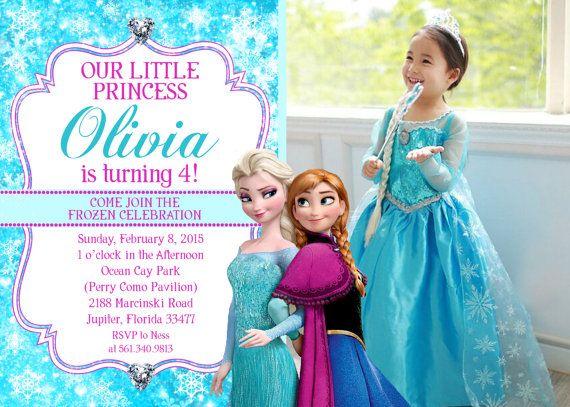 Disney's Frozen Photo Birthday Invitation  by CustomPartyDecor