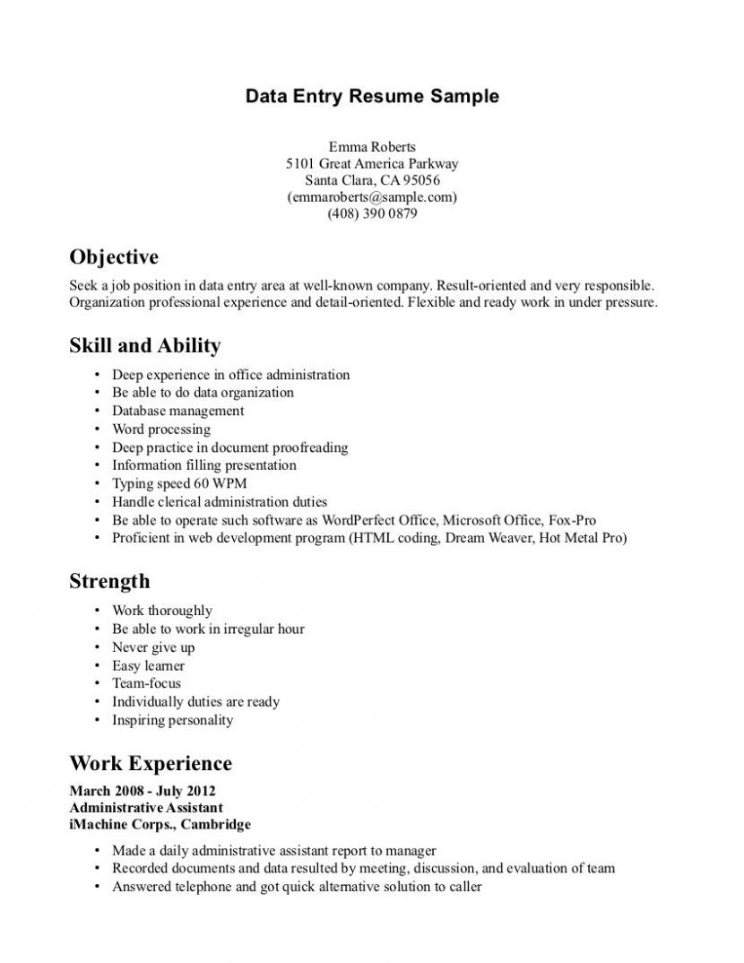 Data Entry Analyst Sample Resume Stunning Cook Template Resume Prep Sample Cover Letter For  Home Design Idea .