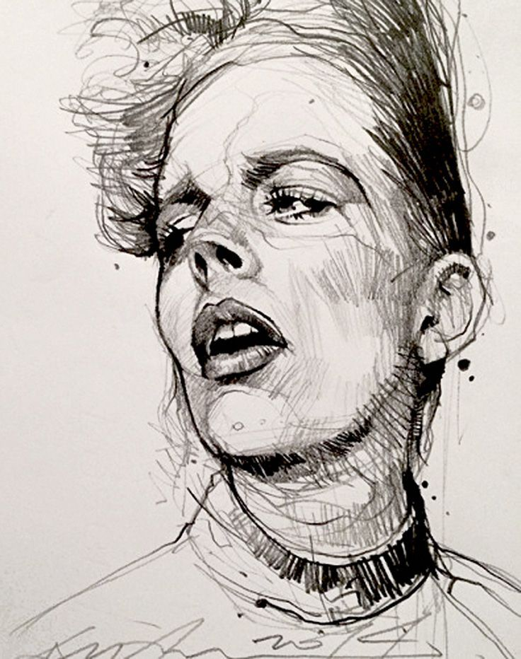 Portrait sketch pesquisa google drawing pinterest for Modern drawing styles