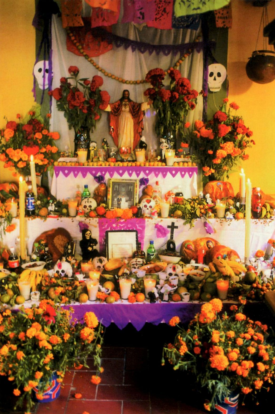Dia del los Muertos Altar - Jon Lander - postcard - can't remember if I got this in Mexico or at the Mattie Rhodes Center in KC on the West Side