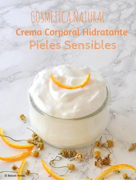 Crema Corporal Hidratante Para Pieles Sensibles Crema Corporal