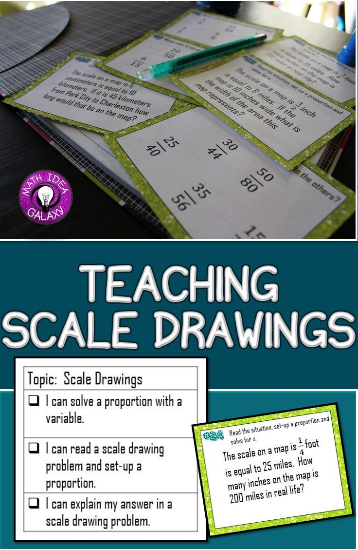 Teaching Scale Drawings with I Can Statements | Maths, Students and ...