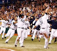 Another 2008 Walk Off Tampa Bay Rays Tampa Bay Tampa
