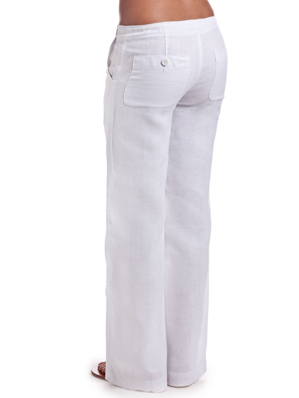 06b0dace72 Women's White Linen Pants | Women's Fashion | Linen pants, White ...