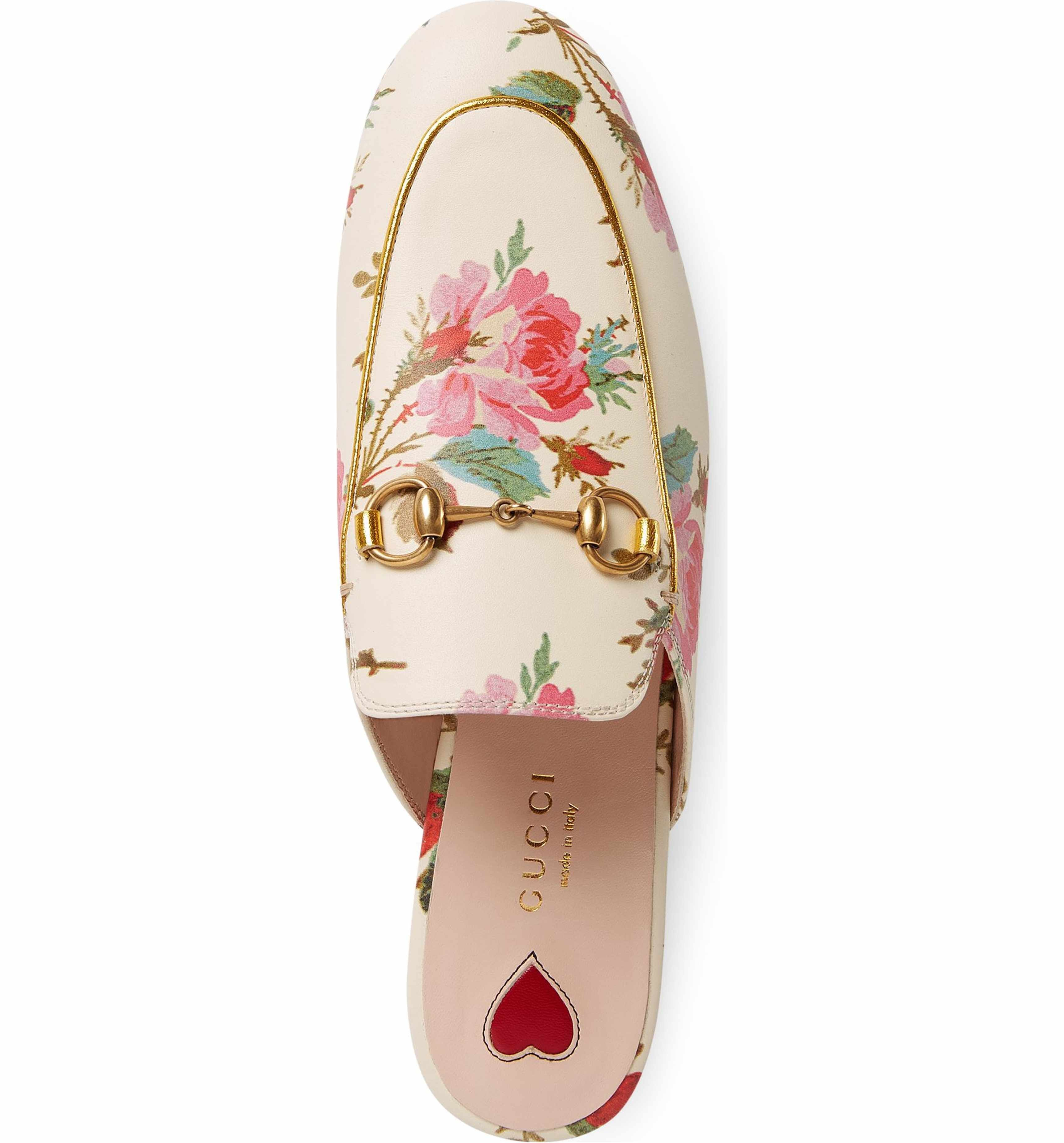 Gucci Women's Princetown Floral Loafer Mule