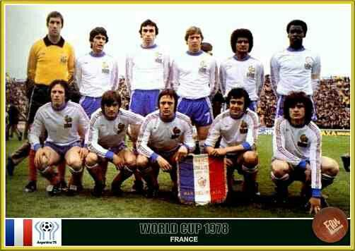 France team group at the 1978 World Cup Finals.