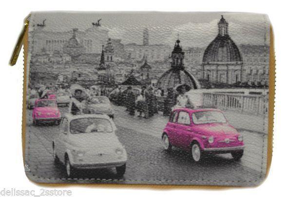 Portafoglio Donna Y Not collezione 2014 Art.C-361 Stampa Roma Parigi NY Londra