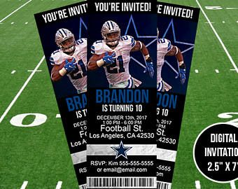 Dallas cowboys birthdayevent invitation dallas cowboys dallas cowboys birthdayevent invitation filmwisefo Gallery