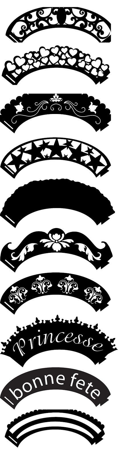 18 Awesome Cupcake Wrer Template Svg Silhouette Cutter Files Design