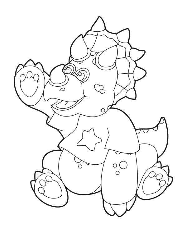 Free Printable Baby Triceratops Coloring Page Download It At Https Museprintables Com Download Coloring Page Baby Tricer Coloring Pages Color Digital Stamps