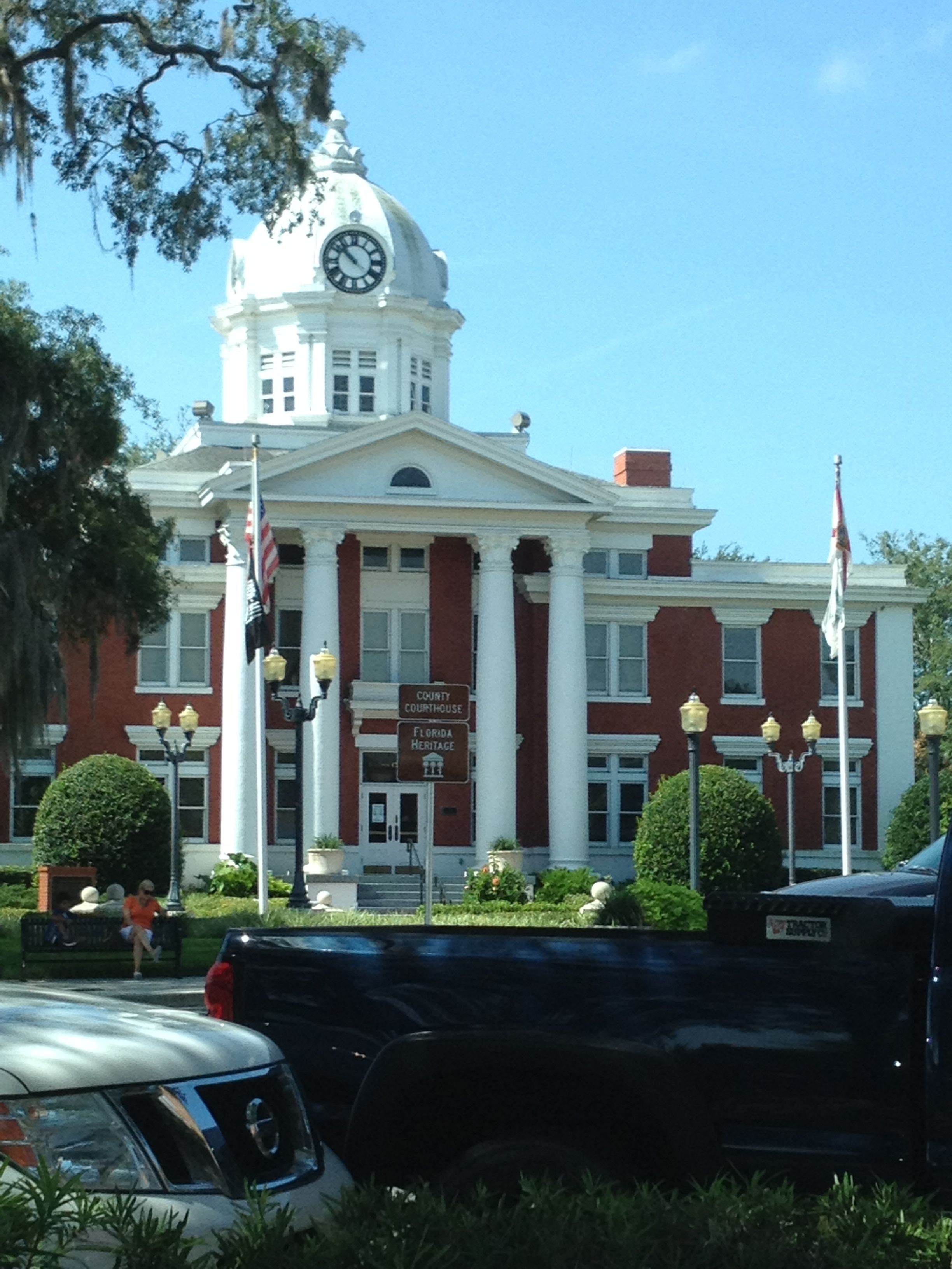 Dade city courthouse florida where our marriage license