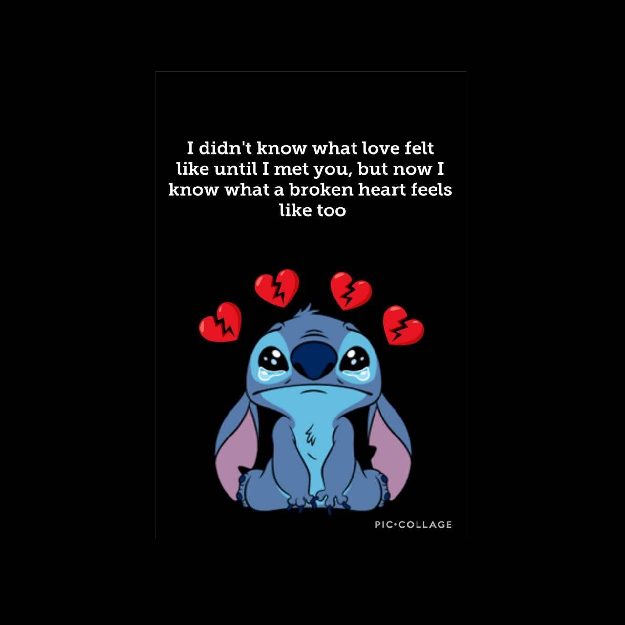 Download Heartbroken Stitch Wallpaper By Amberz18 09 Free On Zedge Now Browse Millions Heartbreak Wallpaper Broken Heart Wallpaper Lilo And Stitch Quotes Broken hearted lock screen love quotes