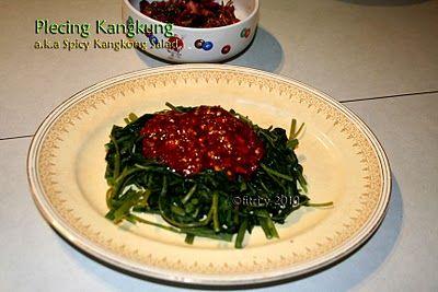 Food Heritage: Spicy Water Spinach (Kangkong) Salad a.k.a Plecing Kangkung