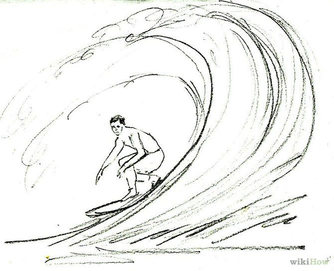 Drawing Lines Surf Movie : Draw a surfer step g projects to try pinterest