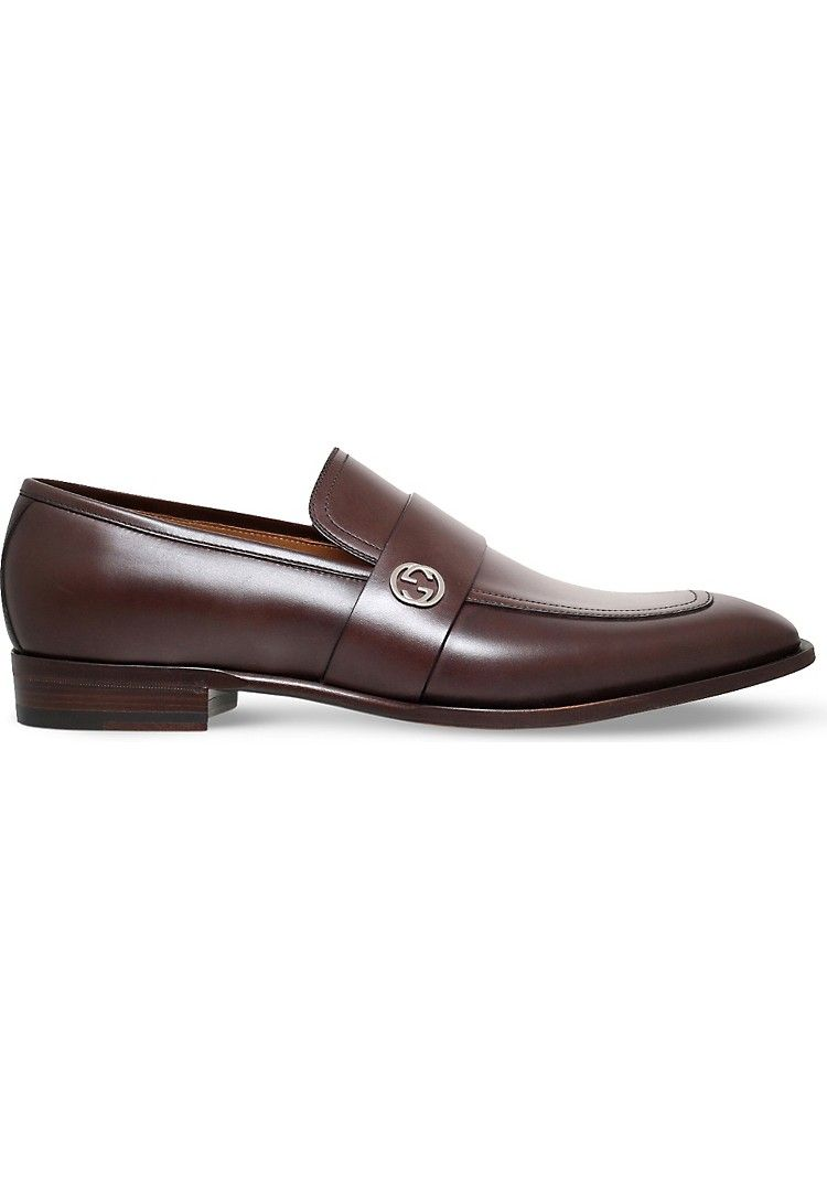 54d25509176 GUCCI - Broadwick leather loafer