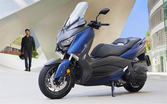 Lataa kuva Yamaha x-max 400, skootteri, 2018 polkupyörää, japanilaiset moottoripyörät, Yamaha