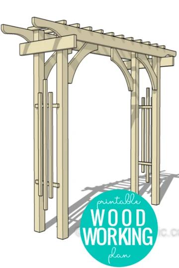 Diy Garden Arbor Wedding Arch Woodworking Plan In 2021 Woodworking Plans Garden Arch Building Garden Arbor