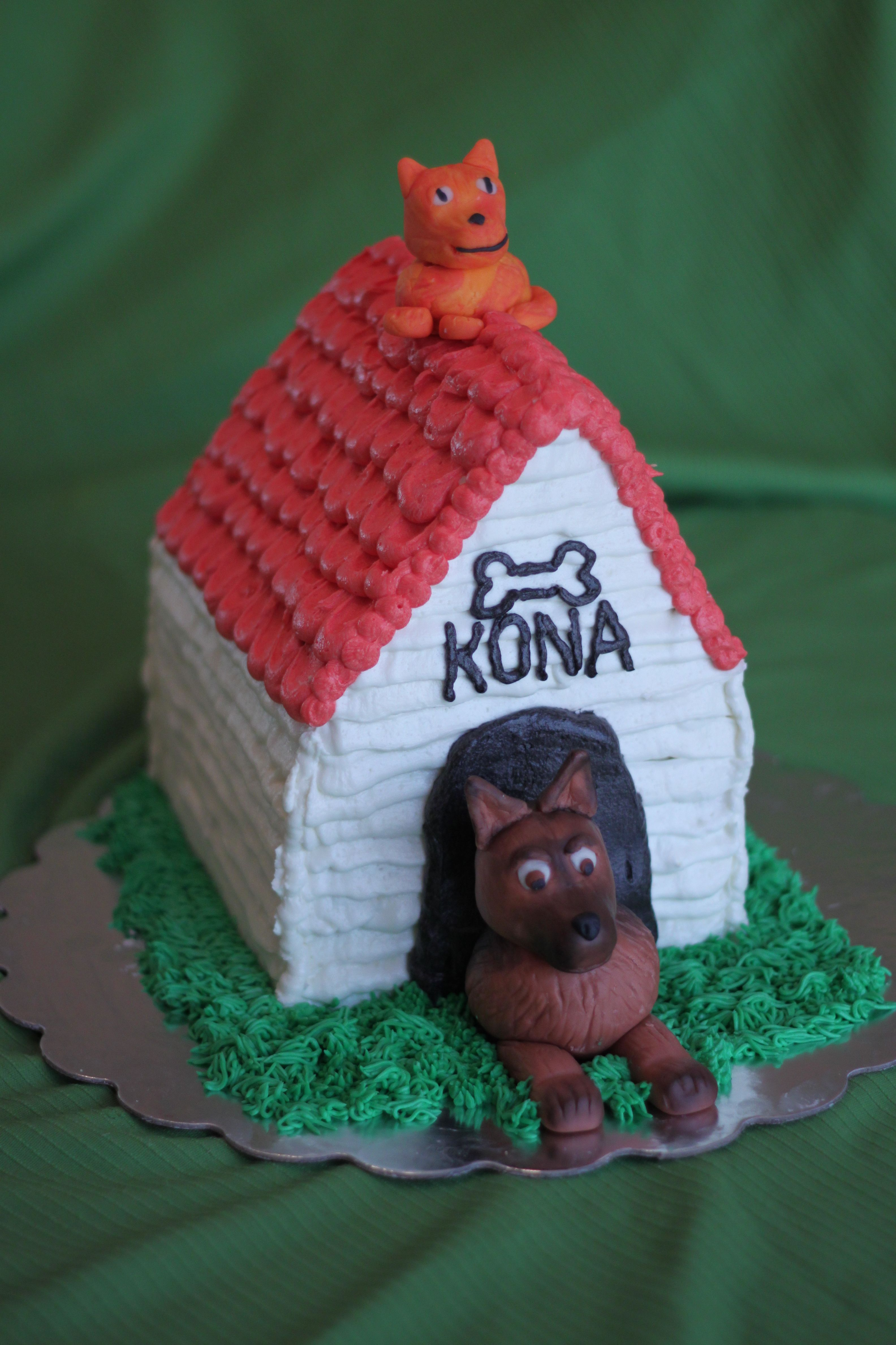 Dog House Cake Dog House Carved Cake With Buttercream Effects To