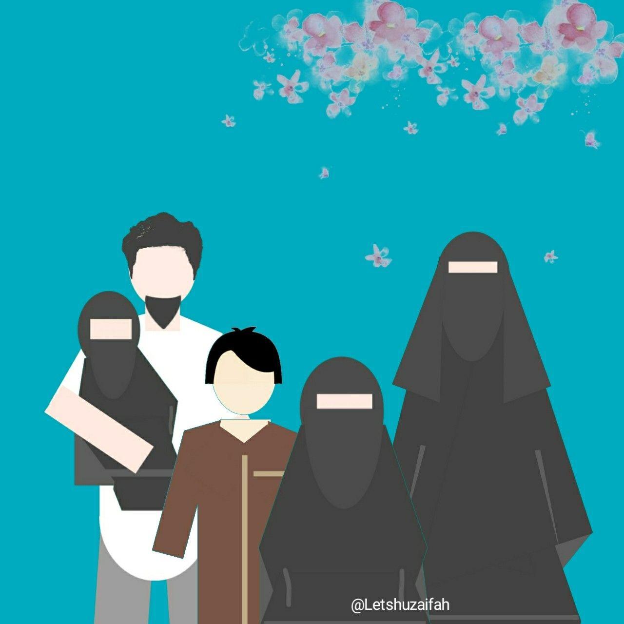 35 Trend Terbaru Kartun Keluarga Muslim Bercadar Mopppy