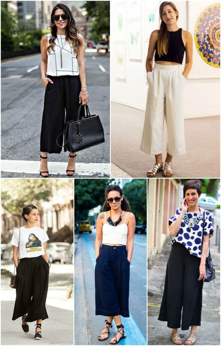 Trend Alert: Calça Pantacourt   Idéias de moda, Calças