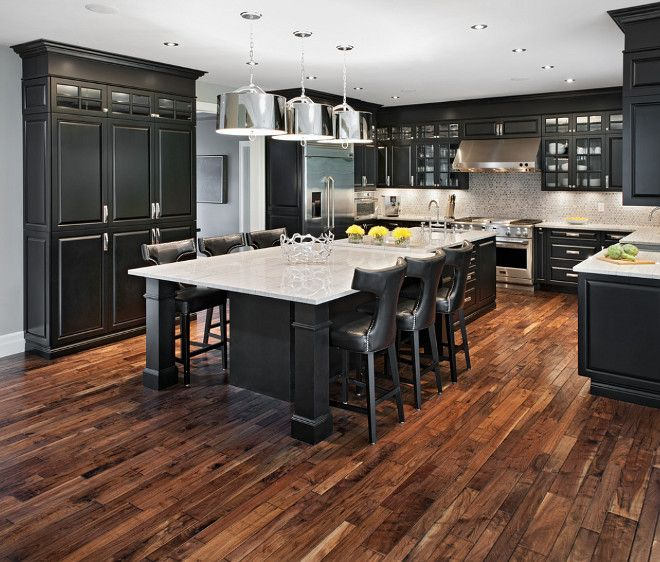 White Painted Wood Floor With Modern Cabinetry: Acacia Hardwood Flooring – An Excellent Choice