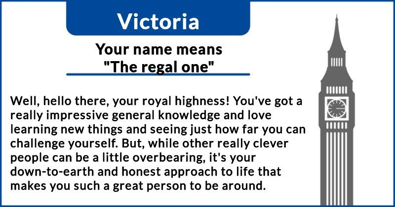 My name means Queen. What does your name really mean?