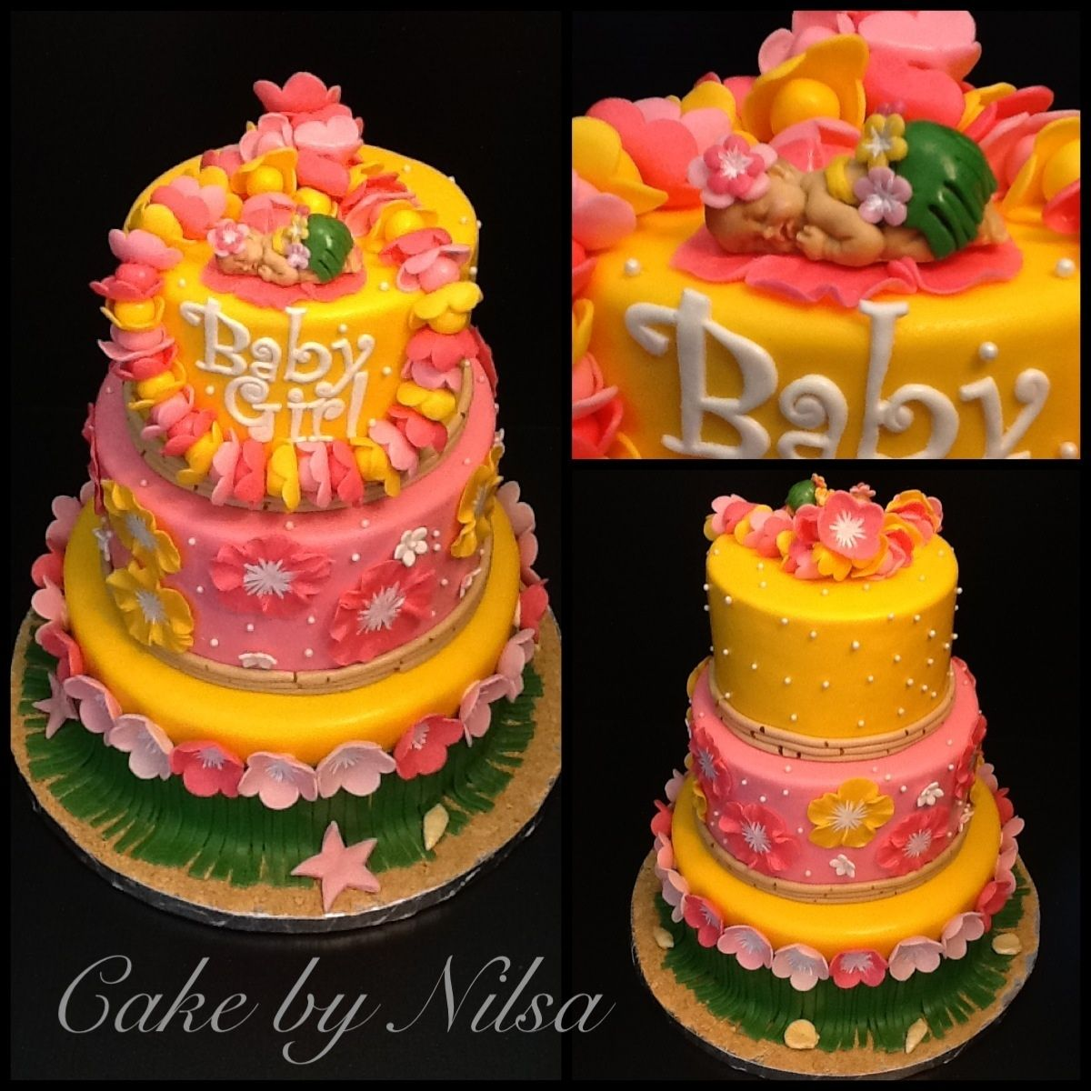 Nice Hawaiian Baby Shower Cake