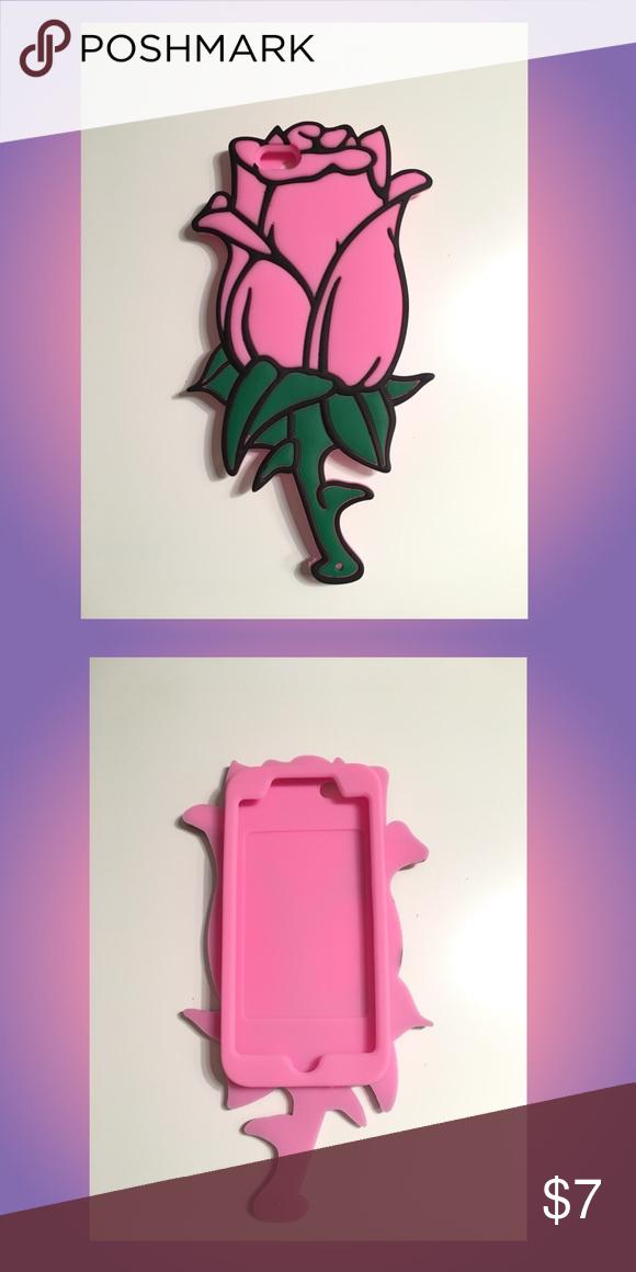 best loved b7940 085f4 💕Big Pink Rose Phone Case Super soft rubber material. Oversize case ...