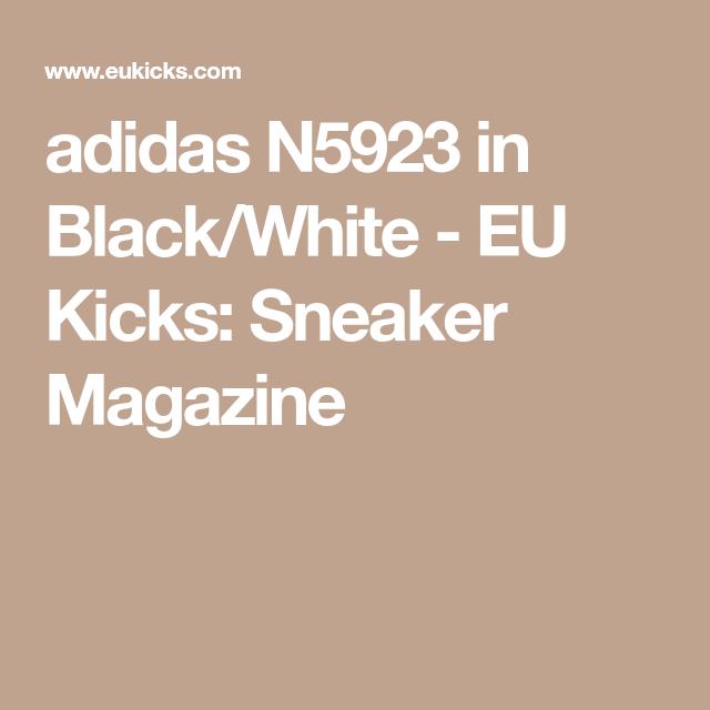 best service eb786 2dc03 adidas N5923 in Black White - EU Kicks  Sneaker Magazine