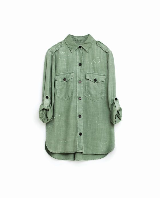 93f8ad9153d4b Image 11 of MILITARY SHIRT from Zara