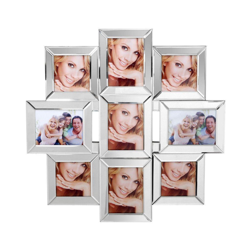 9 Photo Multi Frame, Mirrored